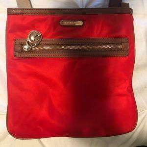 Bright Red Michael Kors cross body purse!